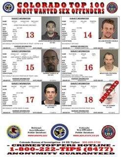Sex offender list for denver colorado